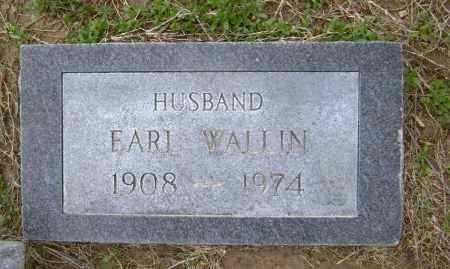 WALLIN, EARL EDWARD - Lawrence County, Arkansas   EARL EDWARD WALLIN - Arkansas Gravestone Photos