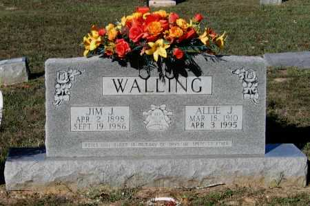 WALLING, ALLIE JOSEPHINE - Lawrence County, Arkansas | ALLIE JOSEPHINE WALLING - Arkansas Gravestone Photos