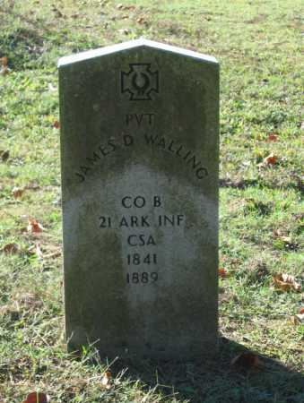 WALLING (VETERAN CSA), JAMES D. - Lawrence County, Arkansas   JAMES D. WALLING (VETERAN CSA) - Arkansas Gravestone Photos