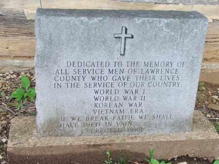 *WAR MEMORIAL,  - Lawrence County, Arkansas |  *WAR MEMORIAL - Arkansas Gravestone Photos