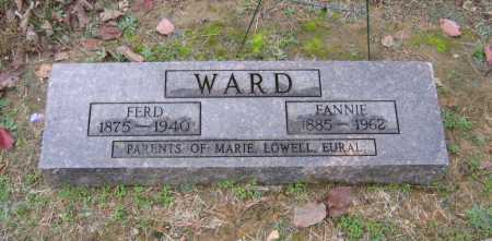 "HORN WARD, FRANCES ""FANNIE"" - Lawrence County, Arkansas | FRANCES ""FANNIE"" HORN WARD - Arkansas Gravestone Photos"