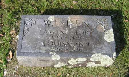WARDEN, LOUISA ANN - Lawrence County, Arkansas   LOUISA ANN WARDEN - Arkansas Gravestone Photos