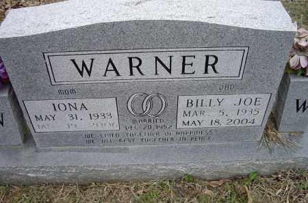 WARNER, BILLY JOE - Lawrence County, Arkansas | BILLY JOE WARNER - Arkansas Gravestone Photos