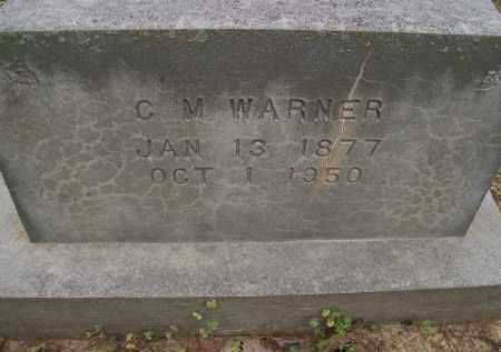 WARNER, C. M. - Lawrence County, Arkansas   C. M. WARNER - Arkansas Gravestone Photos