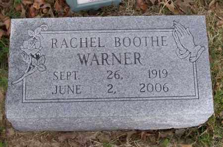 BOOTHE WARNER, RACHEL - Lawrence County, Arkansas   RACHEL BOOTHE WARNER - Arkansas Gravestone Photos