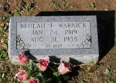 WARNICK, BEULAH F. - Lawrence County, Arkansas | BEULAH F. WARNICK - Arkansas Gravestone Photos