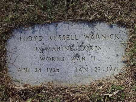 WARNICK (VETERAN WWII), FLOYD RUSSELL - Lawrence County, Arkansas | FLOYD RUSSELL WARNICK (VETERAN WWII) - Arkansas Gravestone Photos