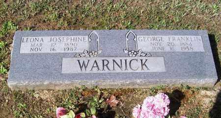 GOODWIN WARNICK, LEONA JOSEPHINE - Lawrence County, Arkansas | LEONA JOSEPHINE GOODWIN WARNICK - Arkansas Gravestone Photos
