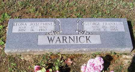 WARNICK, LEONA JOSEPHINE - Lawrence County, Arkansas | LEONA JOSEPHINE WARNICK - Arkansas Gravestone Photos