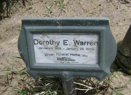 GREEN WARREN, DOROTHY E. - Lawrence County, Arkansas | DOROTHY E. GREEN WARREN - Arkansas Gravestone Photos