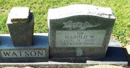 WATSON, HAROLD W. - Lawrence County, Arkansas | HAROLD W. WATSON - Arkansas Gravestone Photos