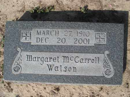MCCARROLL WATSON, MARGARET CONNELL - Lawrence County, Arkansas | MARGARET CONNELL MCCARROLL WATSON - Arkansas Gravestone Photos