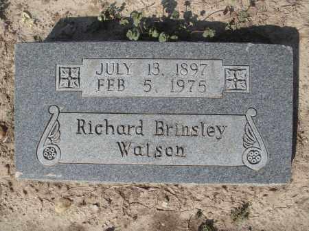 WATSON, RICHARD BRINSLEY - Lawrence County, Arkansas | RICHARD BRINSLEY WATSON - Arkansas Gravestone Photos