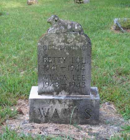 WATTS, BETTY LOU - Lawrence County, Arkansas | BETTY LOU WATTS - Arkansas Gravestone Photos