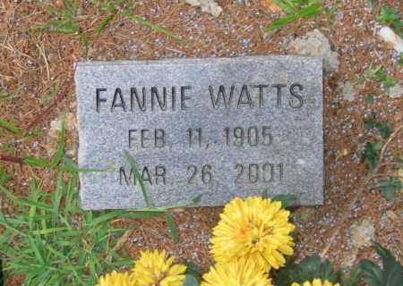 WATTS, FANNIE - Lawrence County, Arkansas | FANNIE WATTS - Arkansas Gravestone Photos