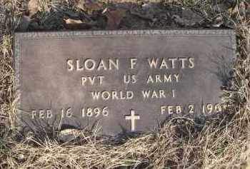 WATTS (VETERAN WWI), SLOAN FERGUSON - Lawrence County, Arkansas | SLOAN FERGUSON WATTS (VETERAN WWI) - Arkansas Gravestone Photos
