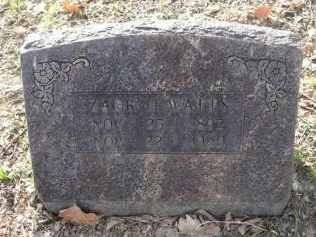 "WATTS, ZACHARIAH HAYNES ""ZACK"" - Lawrence County, Arkansas 