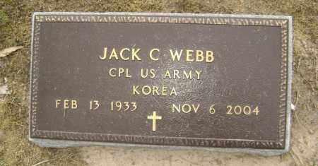 WEBB  (VETERAN KOR), JACK CLARENCE - Lawrence County, Arkansas | JACK CLARENCE WEBB  (VETERAN KOR) - Arkansas Gravestone Photos