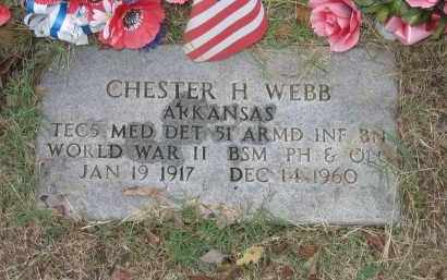WEBB (VETERAN WWII), CHESTER H. - Lawrence County, Arkansas | CHESTER H. WEBB (VETERAN WWII) - Arkansas Gravestone Photos