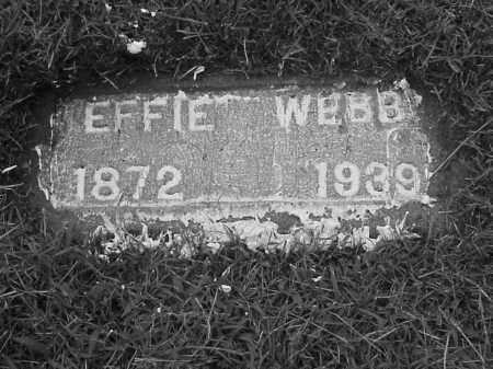 WEBB, EFFIE P. - Lawrence County, Arkansas | EFFIE P. WEBB - Arkansas Gravestone Photos