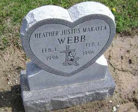 WEBB, HEATHER JUSTUS MAKAYLA - Lawrence County, Arkansas | HEATHER JUSTUS MAKAYLA WEBB - Arkansas Gravestone Photos
