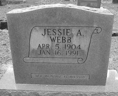 WEBB, JESSIE A. - Lawrence County, Arkansas | JESSIE A. WEBB - Arkansas Gravestone Photos