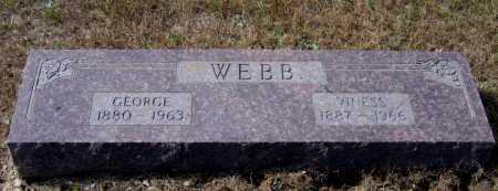 WEBB, RUFIE GEORGE - Lawrence County, Arkansas | RUFIE GEORGE WEBB - Arkansas Gravestone Photos