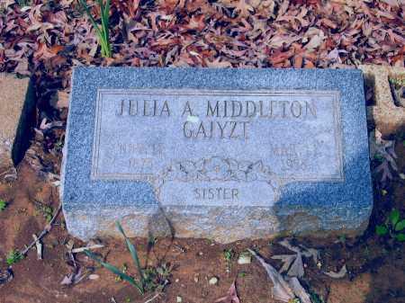 GAIYZT, JULIA A. MIDDLETON WEBBER - Lawrence County, Arkansas | JULIA A. MIDDLETON WEBBER GAIYZT - Arkansas Gravestone Photos