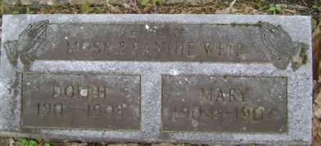 WEIR, MARY JANE - Lawrence County, Arkansas | MARY JANE WEIR - Arkansas Gravestone Photos