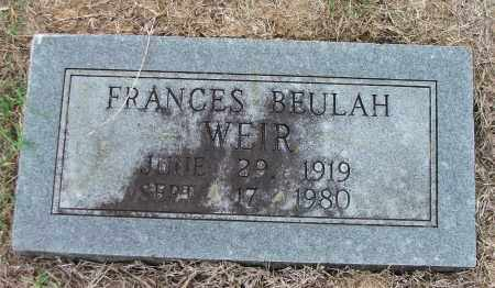 RICE WEIR, FRANCES BEULAH - Lawrence County, Arkansas | FRANCES BEULAH RICE WEIR - Arkansas Gravestone Photos
