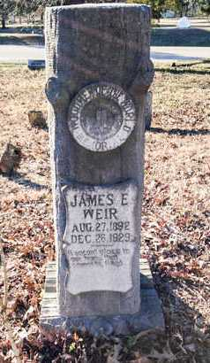 WEIR, JAMES ERNEST - Lawrence County, Arkansas   JAMES ERNEST WEIR - Arkansas Gravestone Photos