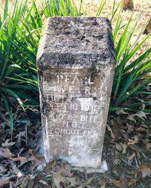 WEIR, PEARL MAUDE - Lawrence County, Arkansas | PEARL MAUDE WEIR - Arkansas Gravestone Photos
