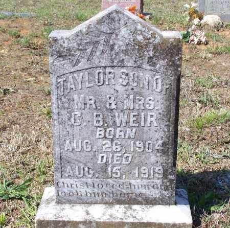 WEIR, TAYLOR - Lawrence County, Arkansas | TAYLOR WEIR - Arkansas Gravestone Photos