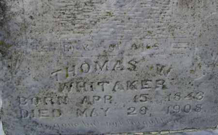 WHITAKER, THOMAS WILLIAM - Lawrence County, Arkansas | THOMAS WILLIAM WHITAKER - Arkansas Gravestone Photos