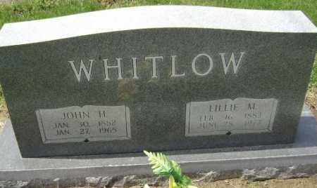 WHITLOW, LILLIE M. - Lawrence County, Arkansas   LILLIE M. WHITLOW - Arkansas Gravestone Photos