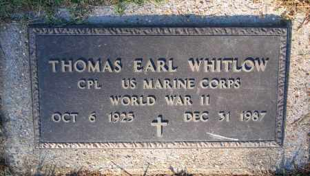 WHITLOW (VETERAN WWII), THOMAS EARL - Lawrence County, Arkansas | THOMAS EARL WHITLOW (VETERAN WWII) - Arkansas Gravestone Photos