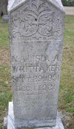 WHITTINGTON WHITTAKER, MALISIA A. - Lawrence County, Arkansas | MALISIA A. WHITTINGTON WHITTAKER - Arkansas Gravestone Photos