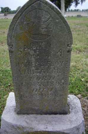 WHITTAKER, SARIAH A. - Lawrence County, Arkansas | SARIAH A. WHITTAKER - Arkansas Gravestone Photos