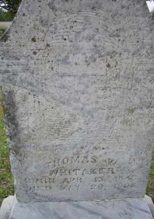 WHITTAKER, THOMAS WILLIAM - Lawrence County, Arkansas | THOMAS WILLIAM WHITTAKER - Arkansas Gravestone Photos