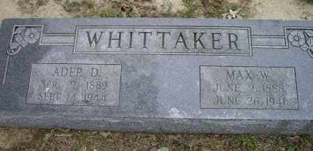 """WHITTAKER, WILLIAM MAXIE """"MAX W."""" - Lawrence County, Arkansas 