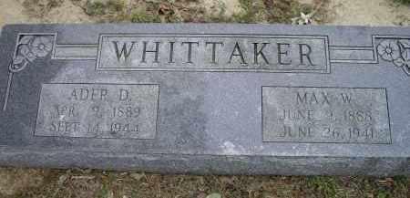 "WHITTAKER, ADA D. ""ADER"" - Lawrence County, Arkansas | ADA D. ""ADER"" WHITTAKER - Arkansas Gravestone Photos"