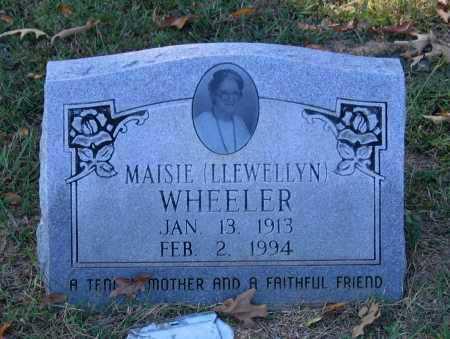 LLEWELLYN WHEELER, MAISIE - Lawrence County, Arkansas | MAISIE LLEWELLYN WHEELER - Arkansas Gravestone Photos