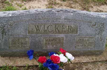 WICKER, MAMIE E. - Lawrence County, Arkansas | MAMIE E. WICKER - Arkansas Gravestone Photos
