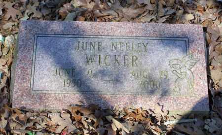 NEELEY WICKER, JUNE ANN - Lawrence County, Arkansas | JUNE ANN NEELEY WICKER - Arkansas Gravestone Photos