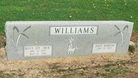 "WILLIAMS, BOYCE LEE ""DICK"" - Lawrence County, Arkansas | BOYCE LEE ""DICK"" WILLIAMS - Arkansas Gravestone Photos"
