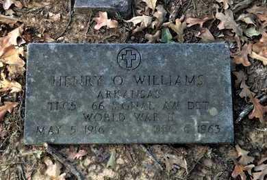 WILLIAMS (VETERAN WWII), HENRY OTTO - Lawrence County, Arkansas | HENRY OTTO WILLIAMS (VETERAN WWII) - Arkansas Gravestone Photos