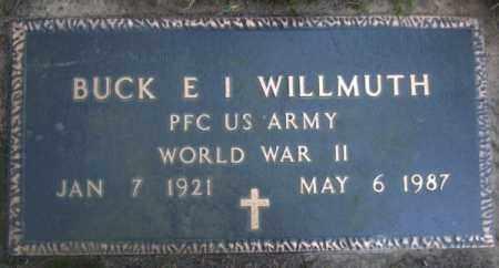 WILLMUTH (VETERAN WWII), BUCK E I - Lawrence County, Arkansas   BUCK E I WILLMUTH (VETERAN WWII) - Arkansas Gravestone Photos