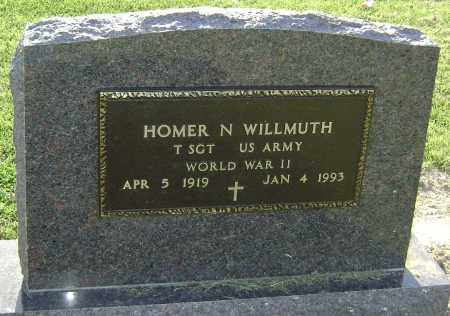 WILLMUTH (VETERAN WWII), HOMER NEAL - Lawrence County, Arkansas | HOMER NEAL WILLMUTH (VETERAN WWII) - Arkansas Gravestone Photos