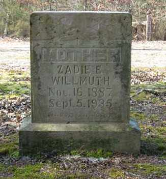WILLMUTH, ZADIE ETHEL - Lawrence County, Arkansas | ZADIE ETHEL WILLMUTH - Arkansas Gravestone Photos