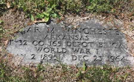 WINCHESTER (VETERAN WWI), OSCAR MORRIS - Lawrence County, Arkansas   OSCAR MORRIS WINCHESTER (VETERAN WWI) - Arkansas Gravestone Photos